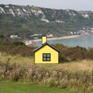 Richard Woods installs cartoon bungalows around Folkestone as a comment on the housing crisis