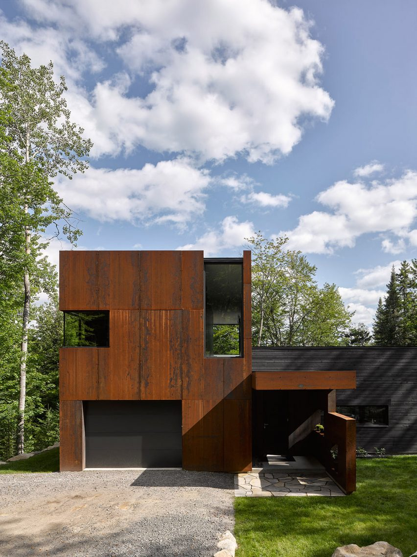 House on Lac Charlebois by Paul Bernier