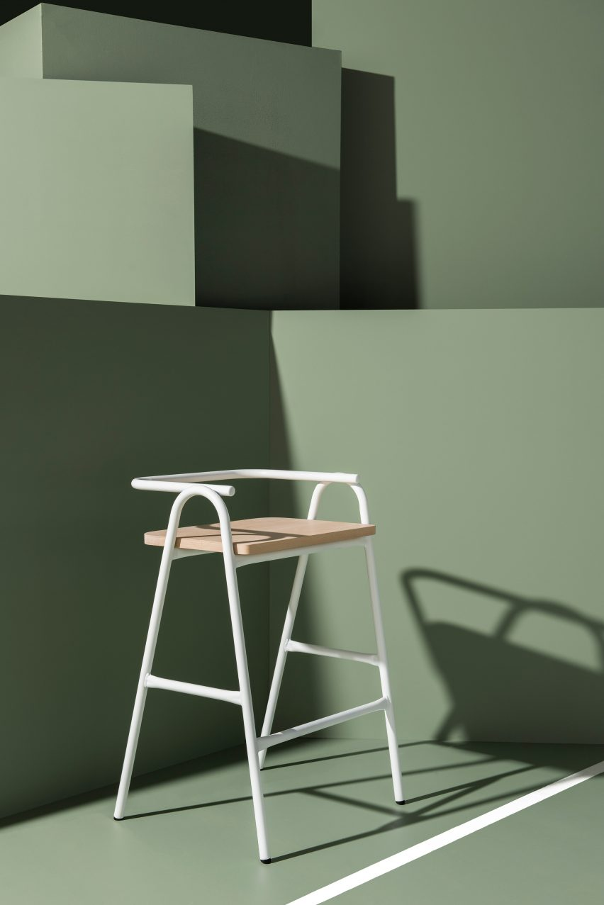 With Their White Frames And High Backs, They Recall The Shape Of Umpireu0027s  Chairs On A Tennis Court.
