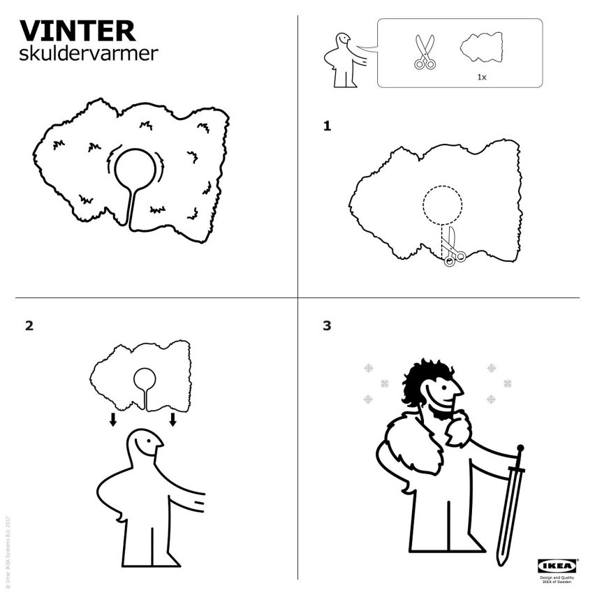 IKEA Instructions Show How To Make Your Own Game Of Thrones Cape - Create your own game of thrones ikea instructions