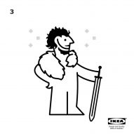 IKEA spoof instructions for a Game of Thrones cape