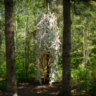 Windswept ribbons and giant cocoon among installations at Quebec garden festival