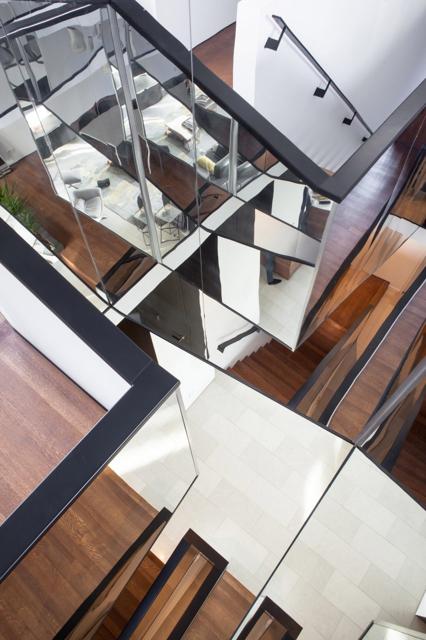 Mirrored Staircase Features In Kaleidoscope House By Paul Raff Studio