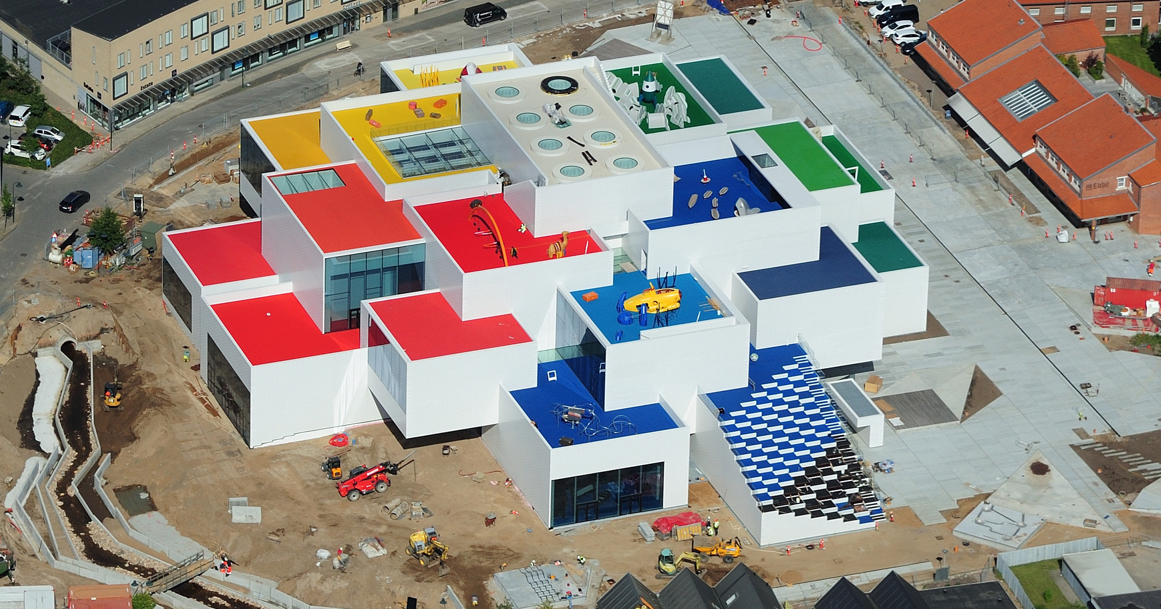This week, Lego's BIG-designed visitor centre was captured by drone and released as a model kit