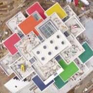 Lego releases drone footage of BIG's Lego House nearing completion