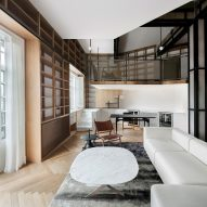Study takes centre stage in bookshelf-lined apartment in Shanghai