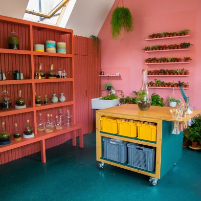 London Terrariums store by Isabel + Helen