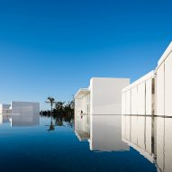 Shallow pools mirror sugar-cube suites at Hotel Mar Adentro by Taller Aragonés