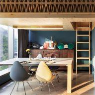 NCDA designs wood-screened loft bedroom for tiny Hong Kong treehouse