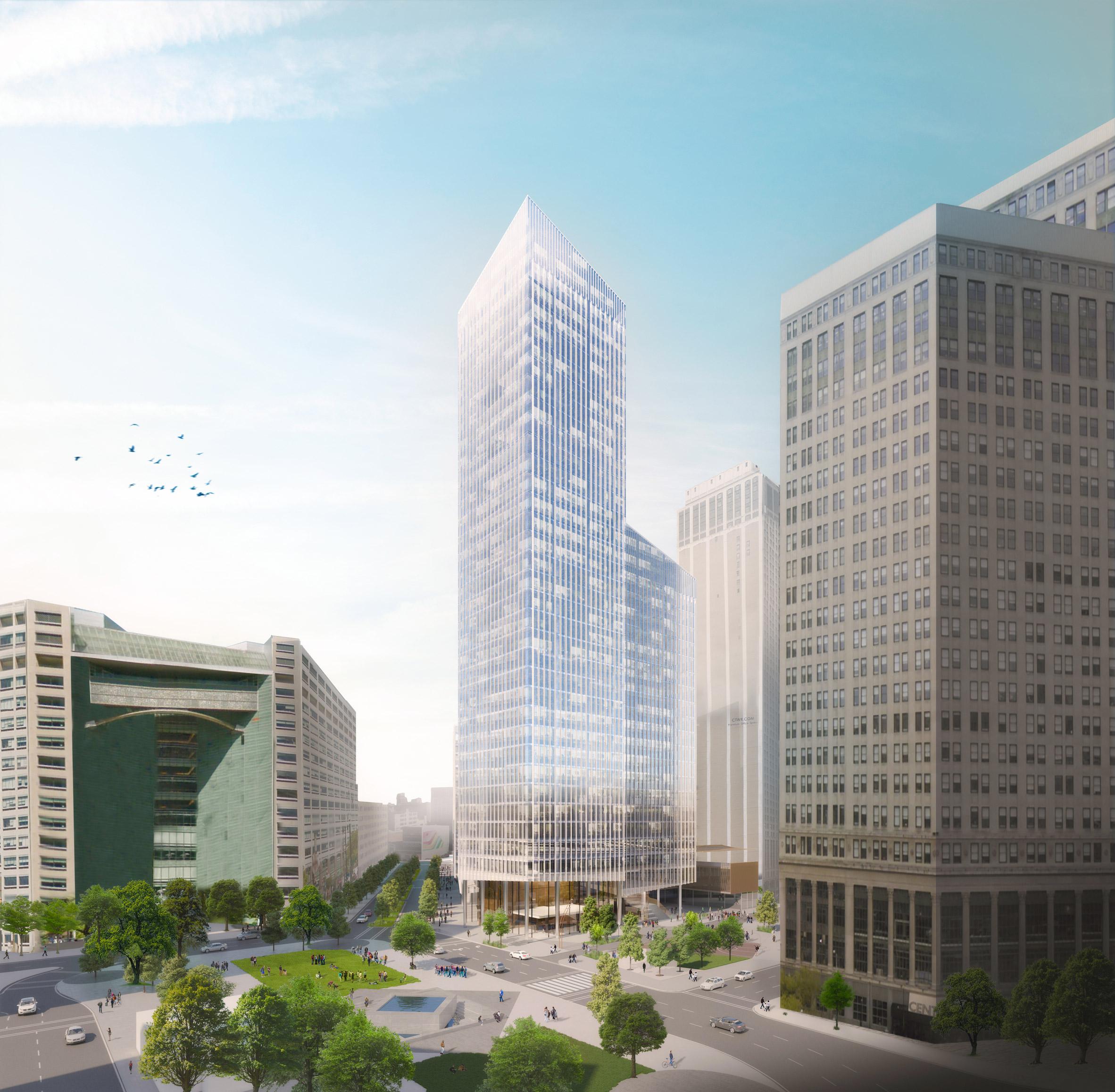 Schmidt Hammer Lassen reveals plans for Monroe Blocks development in downtown Detroit