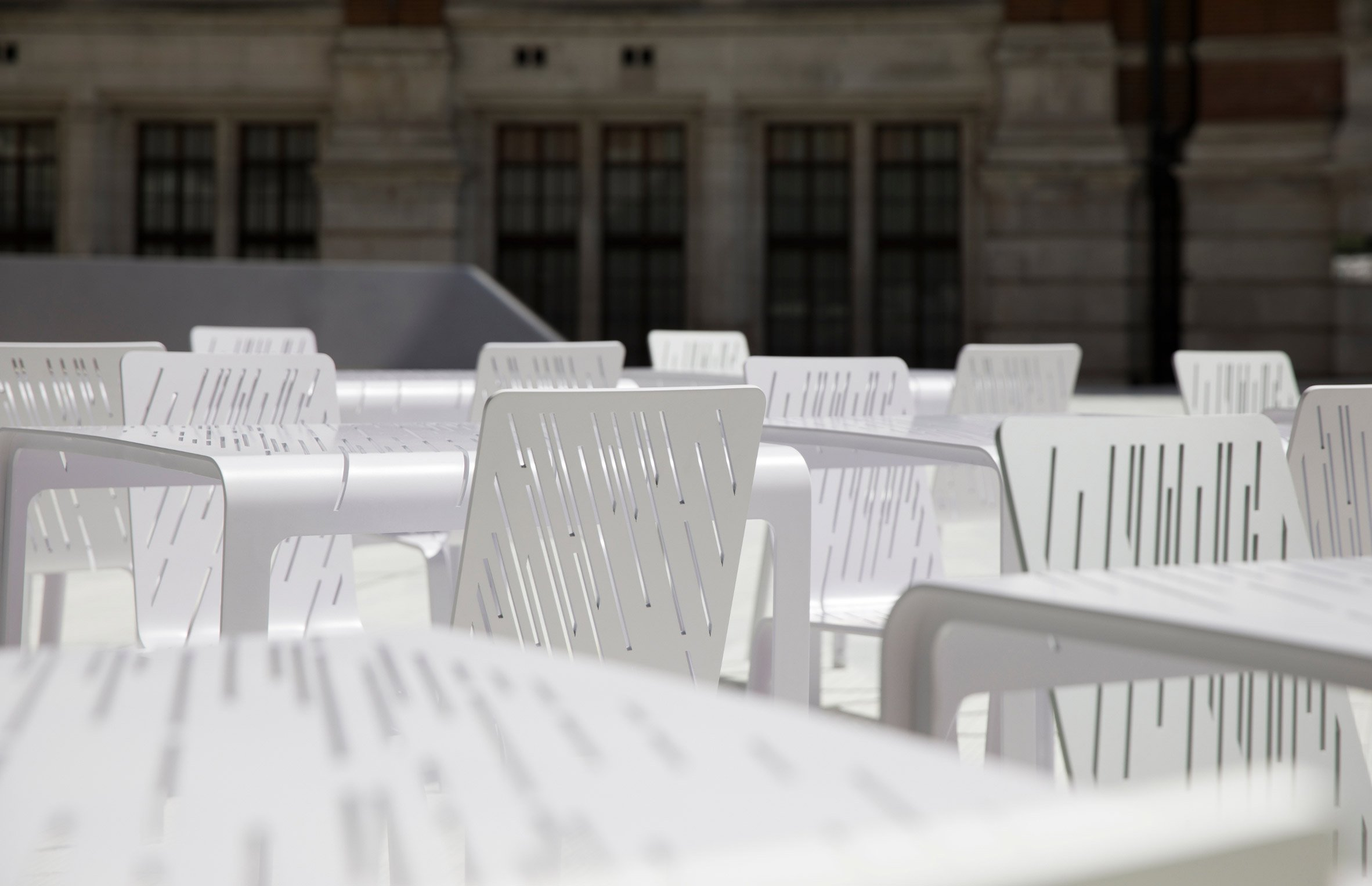 AL_A and Moroso join to produce chairs for V&A's Exhibition Road Quarter