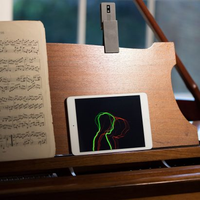RCA graduate designs camera-style device to help musicians improve their posture and technique