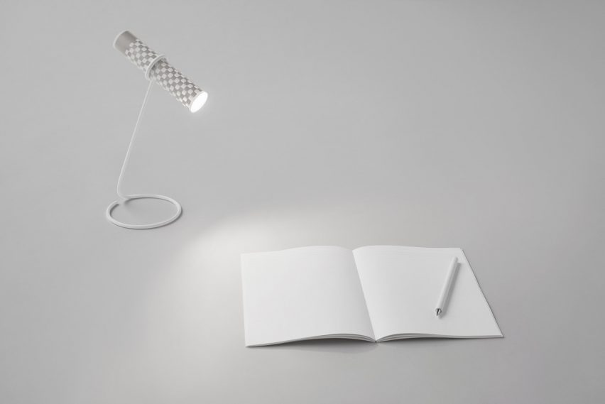 Nendo torch made from a piece of paper