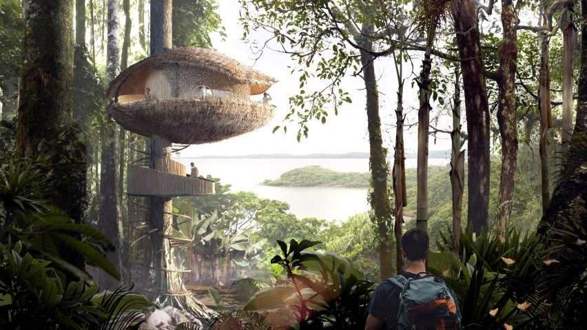 BÍKU Treehouse Resort by Baca Architects