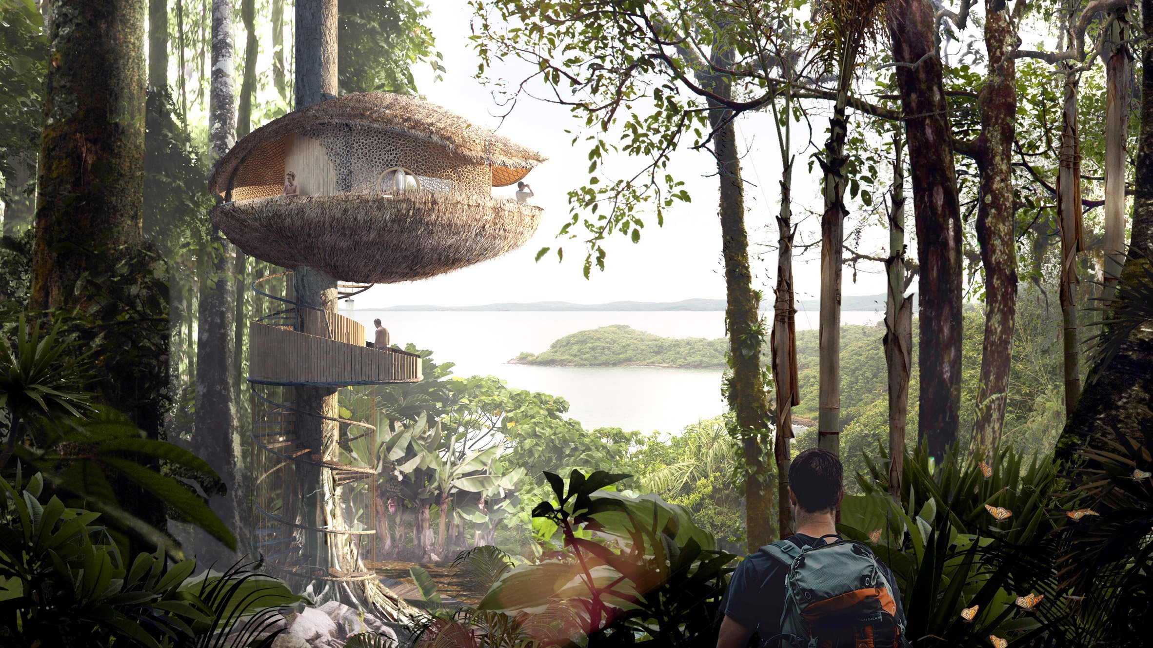 mirror treehouse baca architects bases treehouses for panama eco resort on cocoa pods