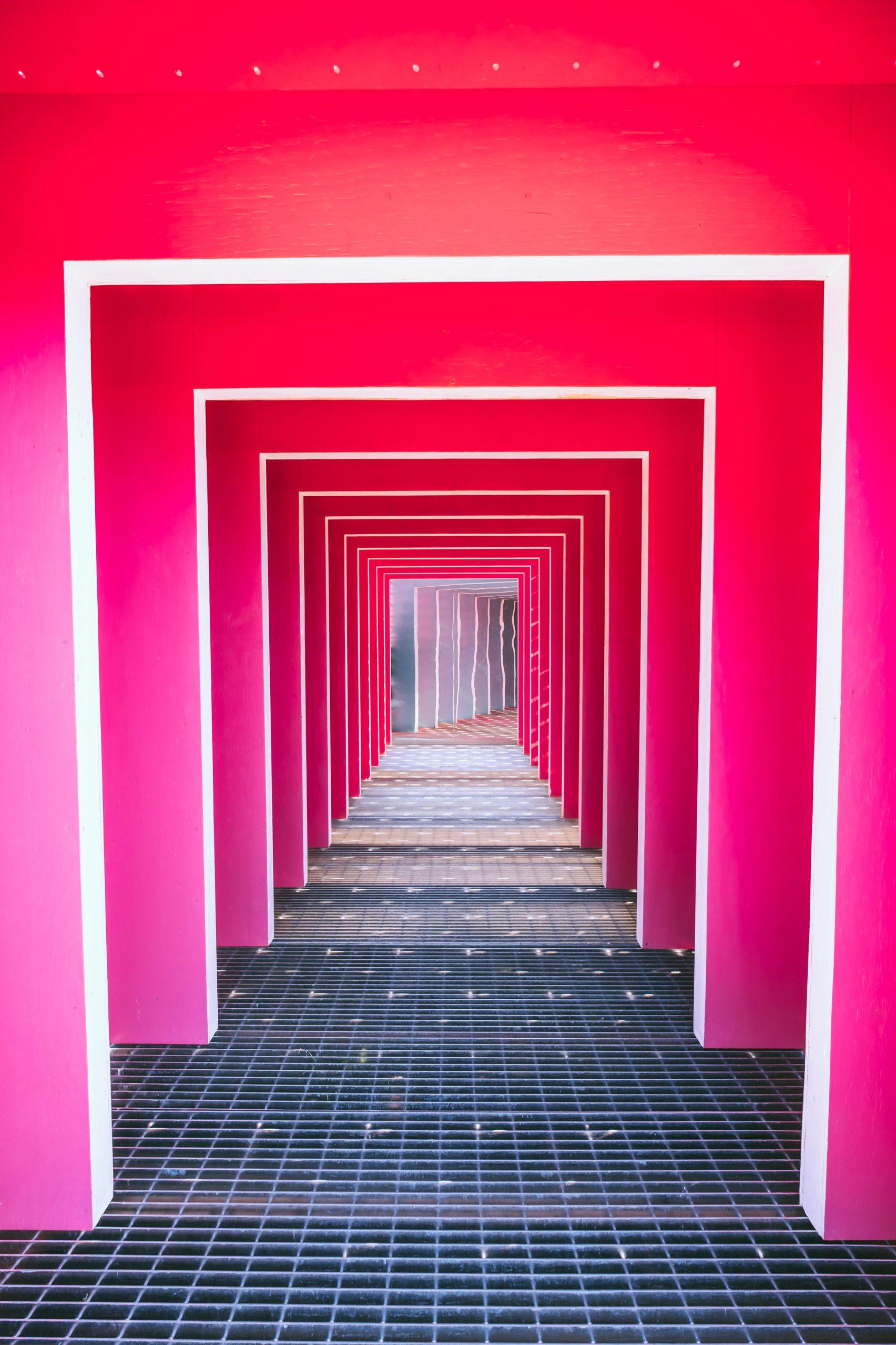 Розовый туннель в Квебек