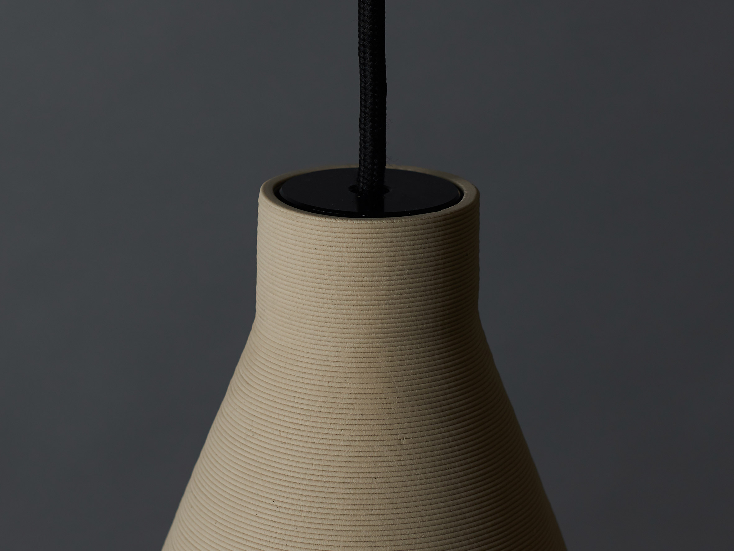 Tom Fereday's Pelo light is made from a single coil of extruded ceramic