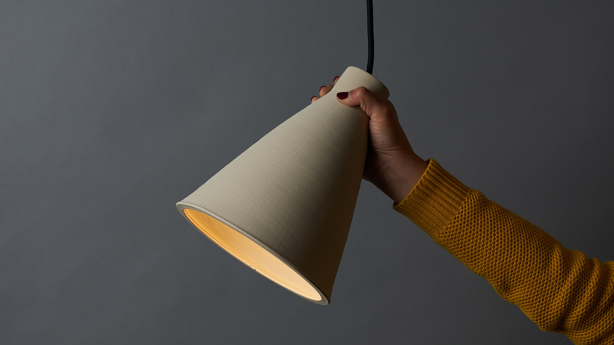 Lamps dezeen australian designer tom fereday and artist susan chen make lamps using a ceramic printer geotapseo Images