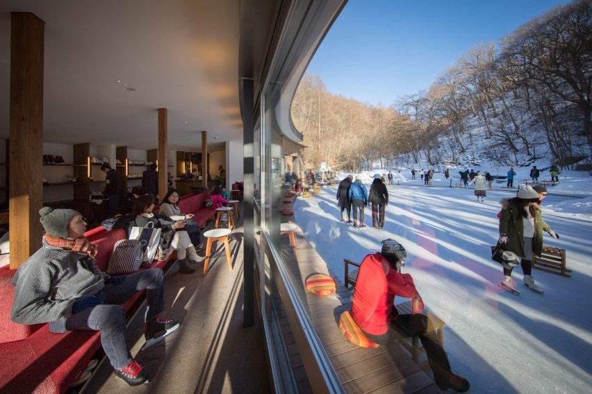 Picchio visitors centre and ice rink by Klein Dytham Architects