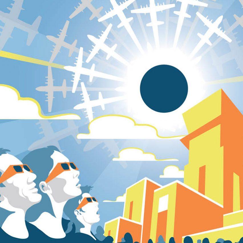 Tyler Nordgren designs retro poster series to advertise today's solar eclipse