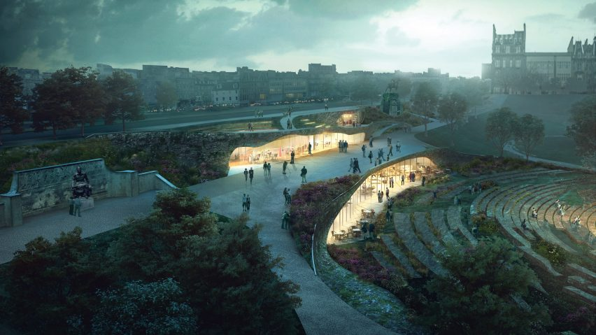 wHY's winning entry for Ross pavilion, Edinburgh, Scotland