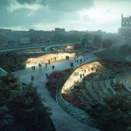 WHY wins Edinburgh's Ross Pavilion contest with design featuring undulating roof gardens