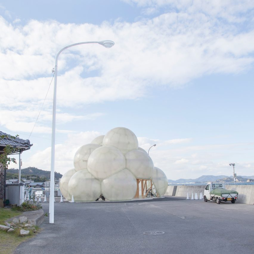 SANAA completes cloud-shaped port terminal building for Naoshima island