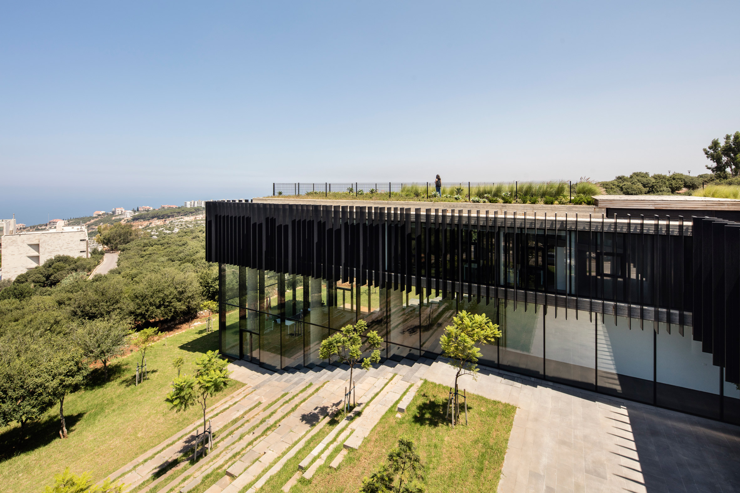 The Sheikh Nahyan Centre for Arabic Studies & Intercultural Dialogue (CASID), designed by local firm Fouad Samara Architects
