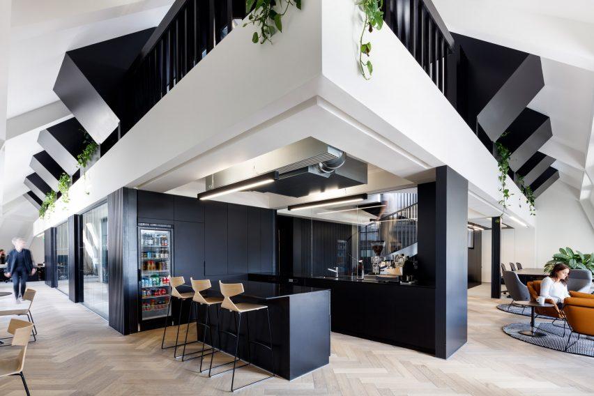 ODOS Architects designs monochrome London office for Slack instant-messaging app