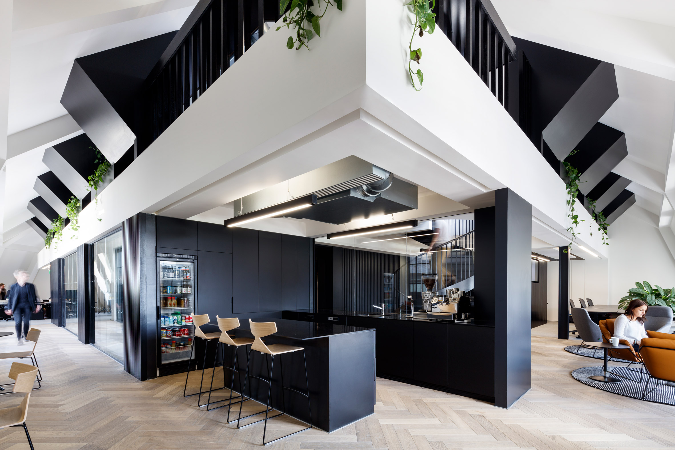 ODOS Architects designs monochrome London office for Slack instant-messaging app