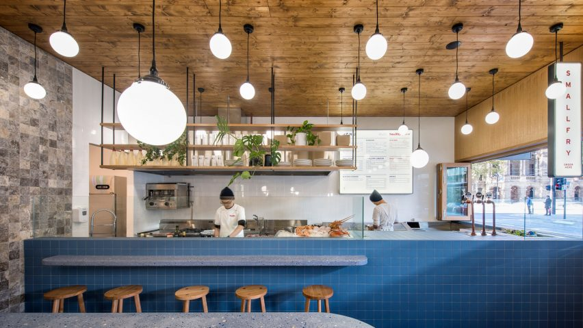 Sans Arc Studio Updates Traditional Fish And Chip Shop Decor With Terrazzo,  Timber And Tiles