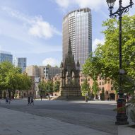 Gary Neville and Ryan Giggs reveal new Hodder + Partners-designed tower for Manchester