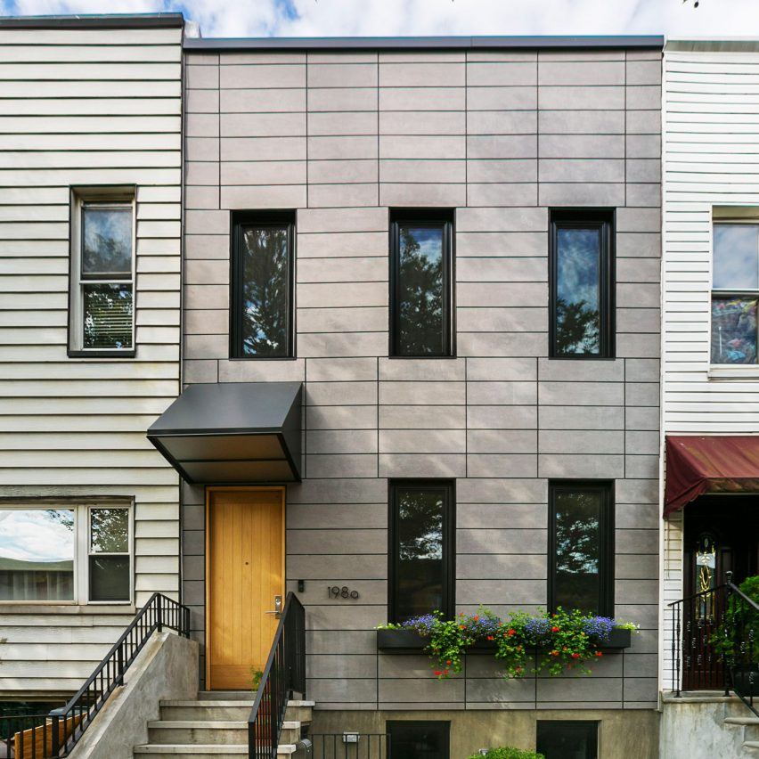 Architectural Cement Board : Bostudio updates sunset park row house with fibre cement