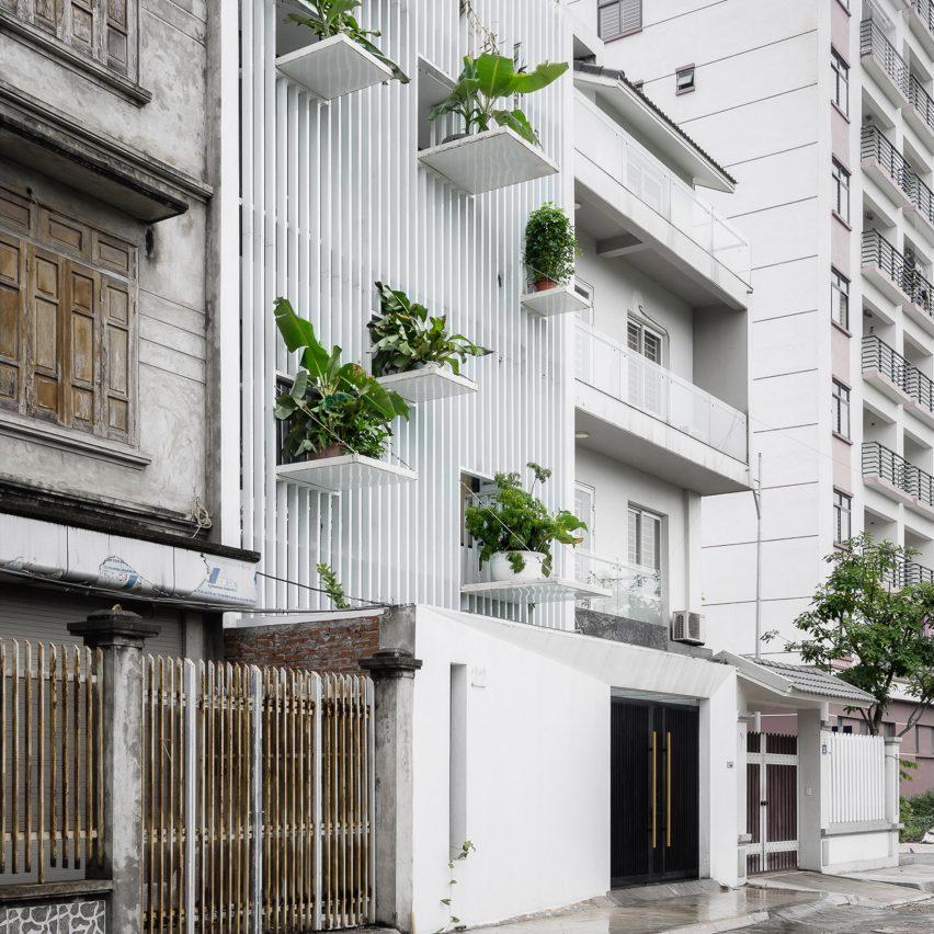 """DANstudio Adds """"green Balconies"""" To Facade Of Hanoi"""