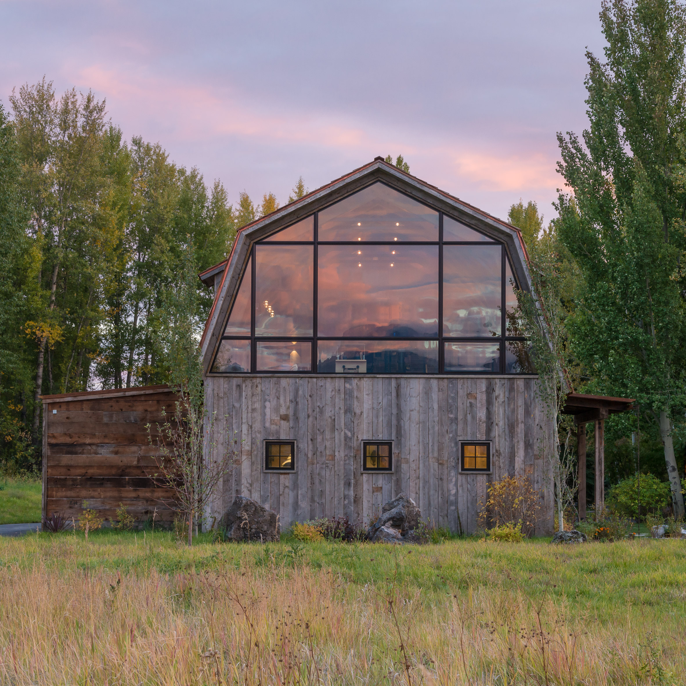 Carney Logan Burke Creates Barn Shaped Guest House In Rural Wyoming How To Install An Electric Clothes Dryer Yahoo Voices