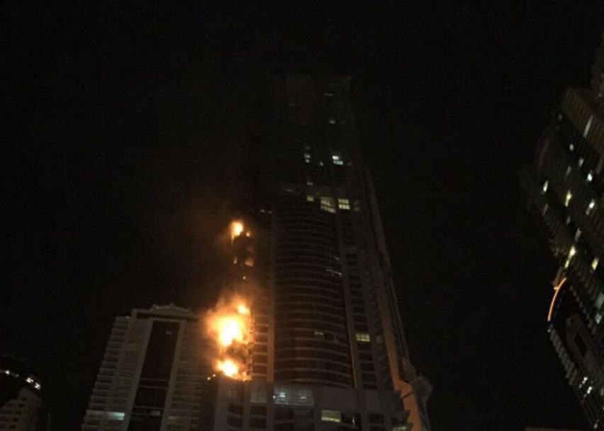 Dubai's Torch Tower sets fire