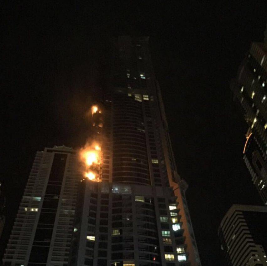 Dubai's Torch Tower sets fire