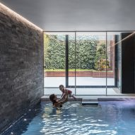 Glass box defines extension with basement pool for Victorian home in south London
