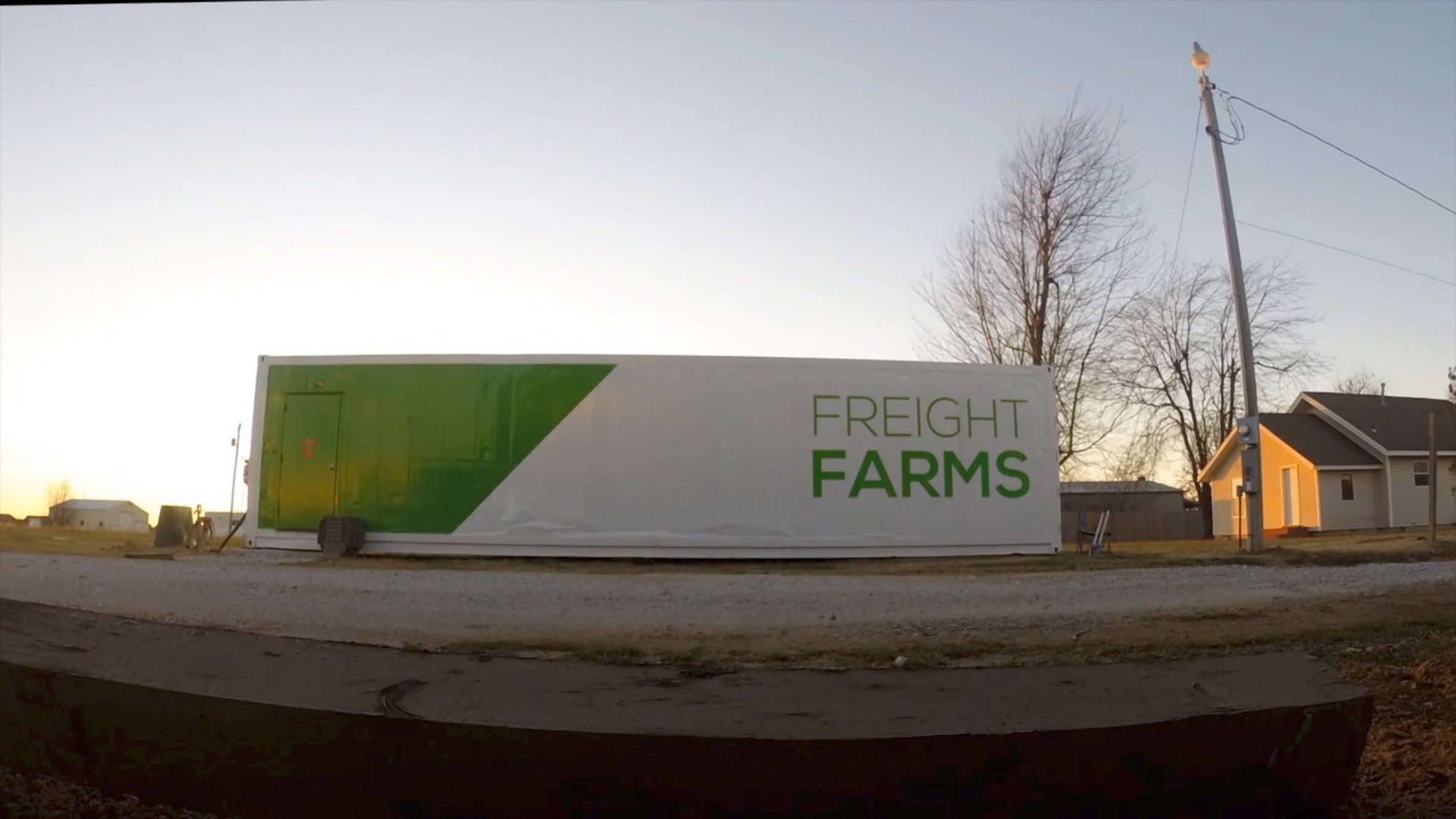 Freight Farms allows crops to be grown inside shipping containers