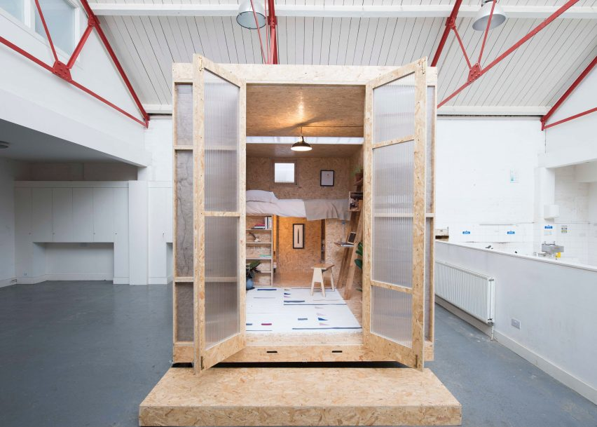 The SHED Project offers micro homes inside vacant London properties