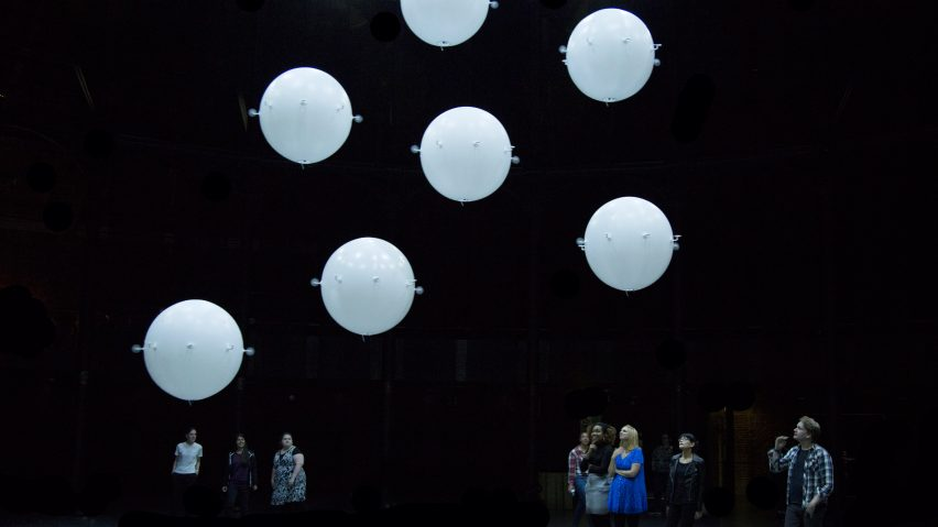 "Random International fills London's Roundhouse theatre with ""swarming"" drones"