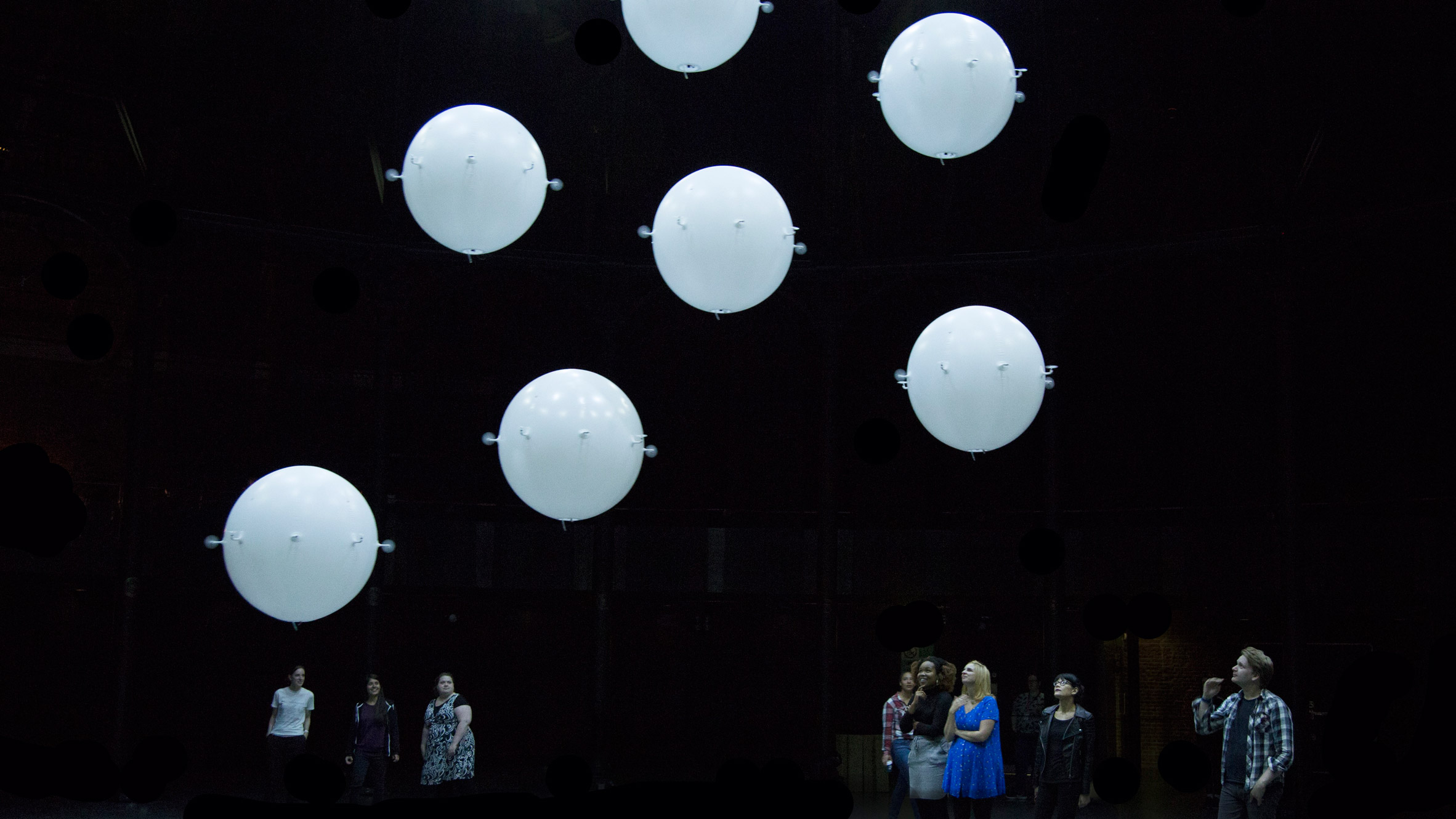 """Random International fills London's Roundhouse theatre with """"swarming"""" drones"""