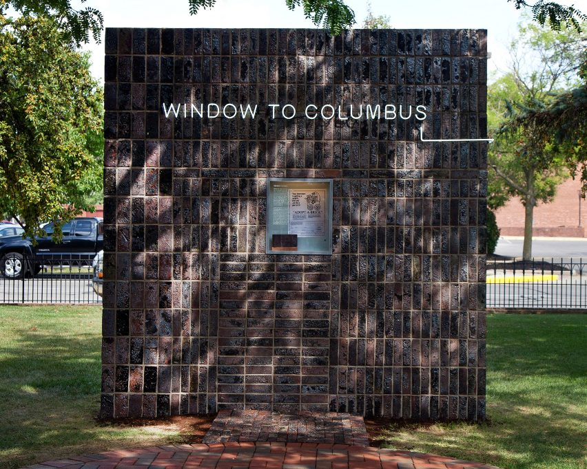 Window to Columbus by Formafantasma for Washingston Street Installations by Exhibit Columbus