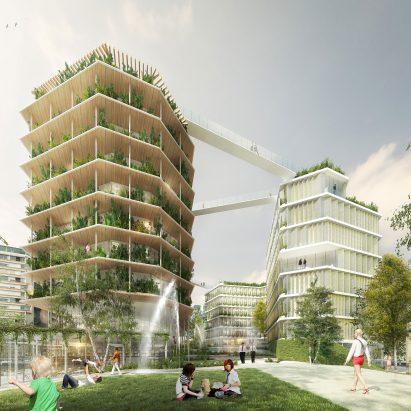 Ternes-Villiers, La Ville Multi-Strate by Jacques Ferrier Architectures, Chartier Dalix, SLA Paysagistes