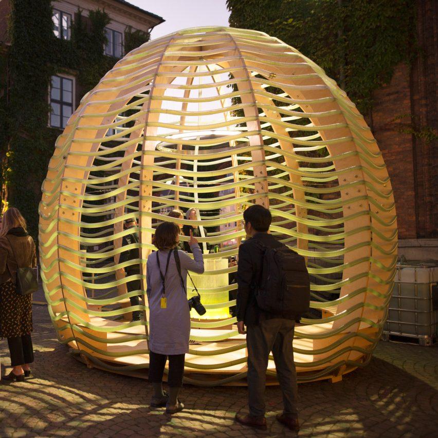 Space10 creates an algae-producing pavilion in Copenhagen