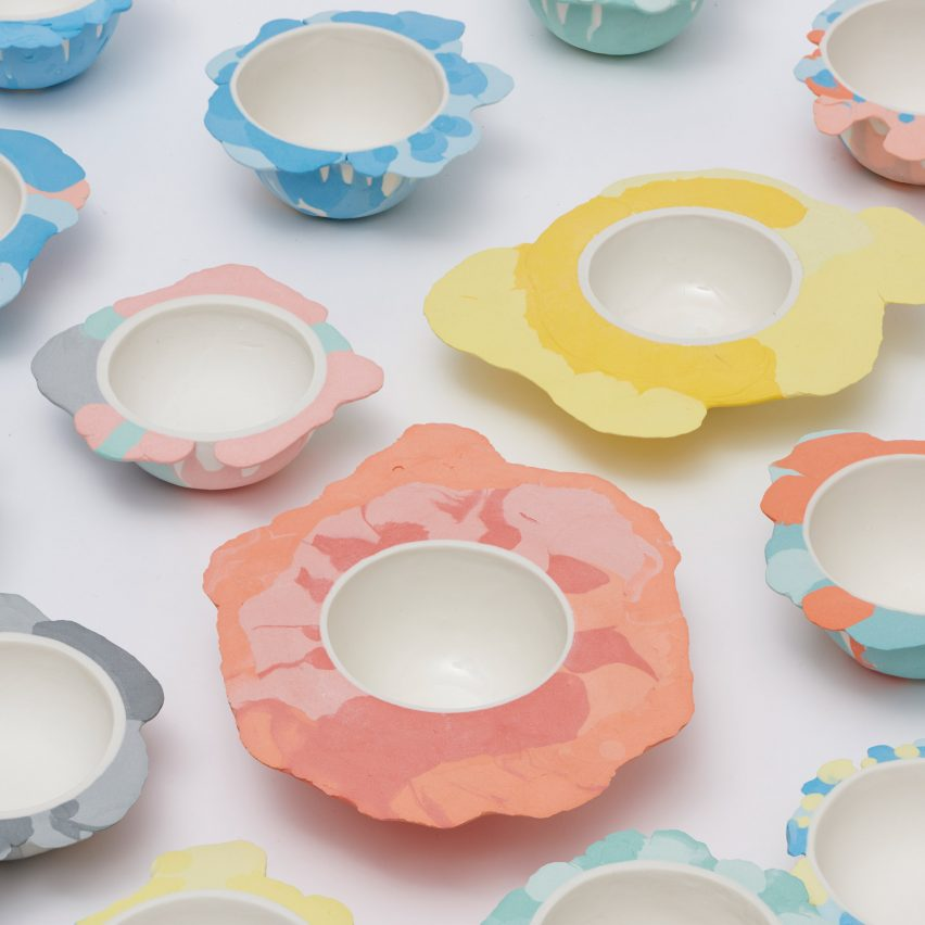 Liquid Series tableware by Alissa Volchkova