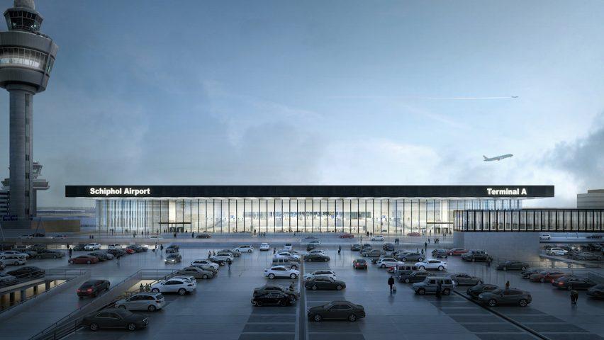 Amsterdam Airport Schiphol Terminal by KAAN Architecten