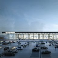 Kaan Architecten unveils new glazed terminal for Amsterdam's Schiphol Airport