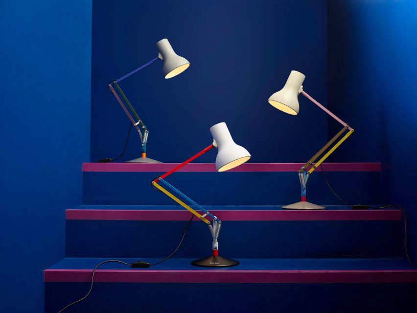 Paul Smith collaborates with Anglepoise on their iconic Type75 desk lamp