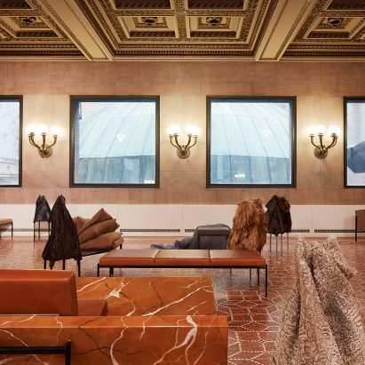 furniture architecture. artek and bless present furcovered marble furniture at chicago architecture biennial n